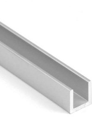 Алюминиевый швеллер / П-образный профиль 8х8х1 анодированный