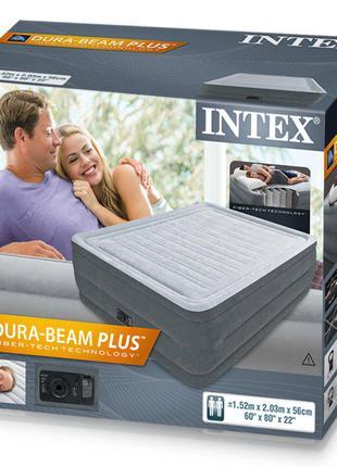 Надувная кровать Comfort Plus H152Х203Х56 см