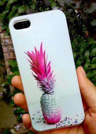Чехол силиконовый ананас бампер накладка на iphone 5/5s/se