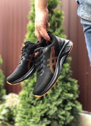 Asics  чорні з помаранчевим кроссовки мужские асикс кеды кросовки