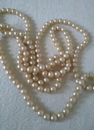Жемчужная нить винтажные бусы-ожерелье  искусственный жемчуг