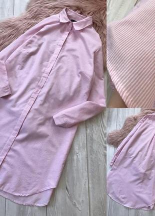 Котонове плаття сорочка в полоску