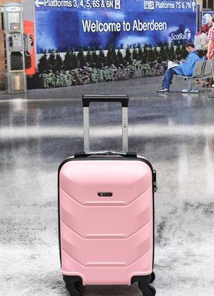 Чемодан поликарбонат 100% кейс-пилот FLY 147 польша pink