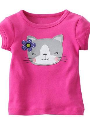 Детская футболка с котиком, 2- 4 года, новая