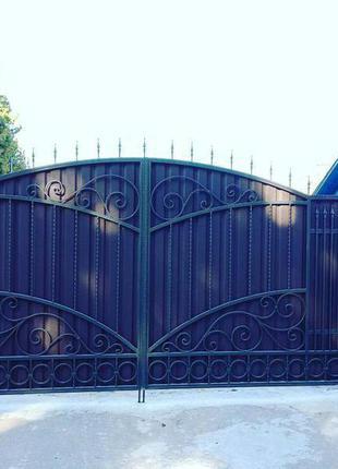 Ковані ворота. Кованые ворота.