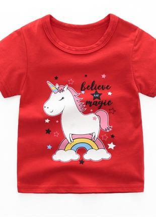 Детская футболка с пони, 1- 3 года, новая