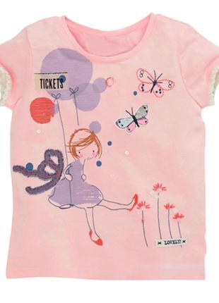 Детская футболка с девочкой, 4- 5 года, новая