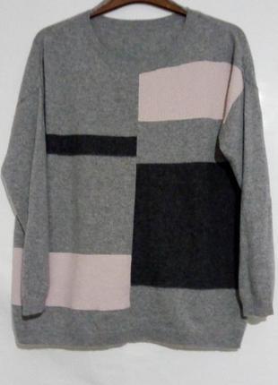 Теплый кашемировый свитер, джемпер свободного кроя