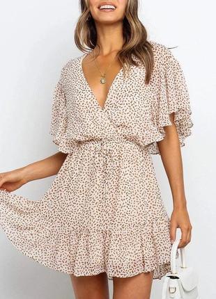 Летнее легкое шифоновое платье