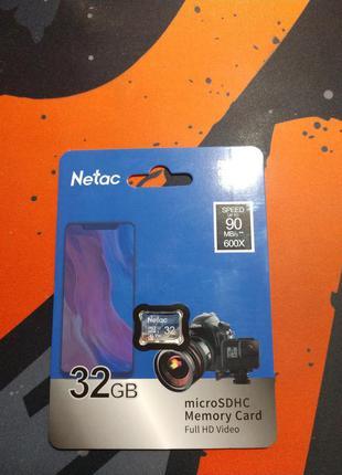 Карта памяти Netac P500 Class 10 32G Micro sd SDHC