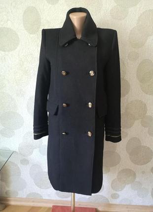 Шерстяное пальто китель  маленького размера