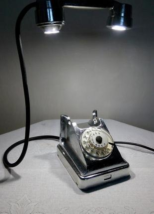 """Лампа настольная """"Cеребряный телефон"""""""