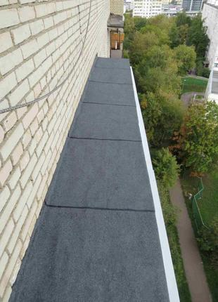 Ремонт козырьков балконов и крыши балкона