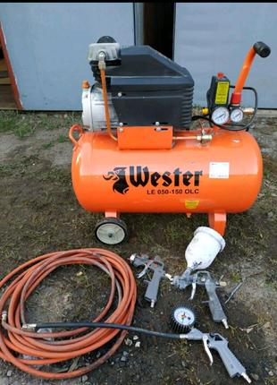 Немецкий воздушный компрессор 50л. 7атм/250лм