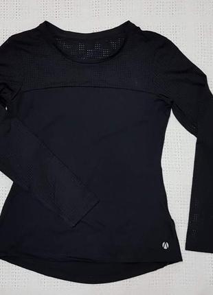 Спортивный женский топ черный  с вставками сетка marks&spencer