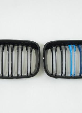 Решетка радиатора BMW 1 Series F20 Gloss Black 2012-2014 ноздр...