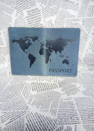 Обложка для паспорта карта мира, maps