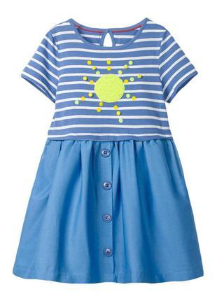 Платье для девочки, синие. ясное солнышко.