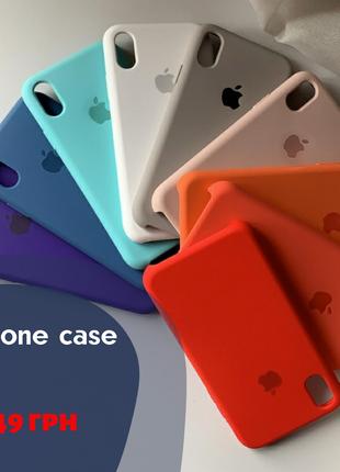 Чехол Silicone Case для iPhone 6 6s 7 7 Plus 8 8 Plus X XR 10 SE