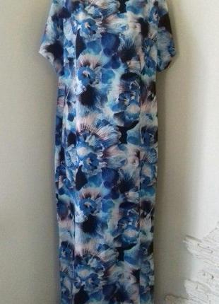 Длинное красивое платье с принтом debenhams