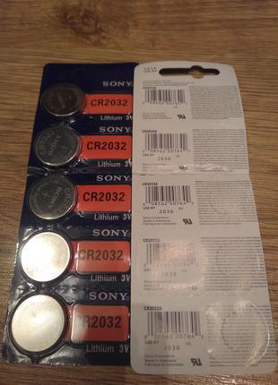Батарейка li-ion CR 2032 3v та CR 395/399 1.55V Panasonic / Sony