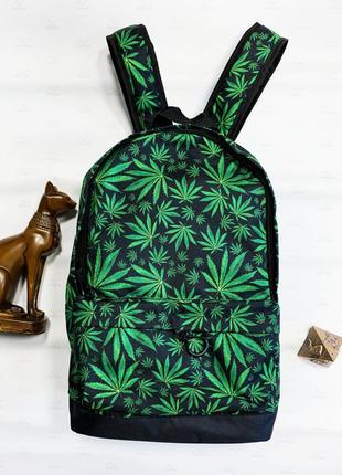 Рюкзак Canabis черно-салатовый