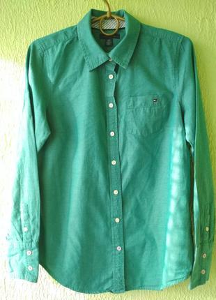 Рубашка хлопковая от tommy hilfiger