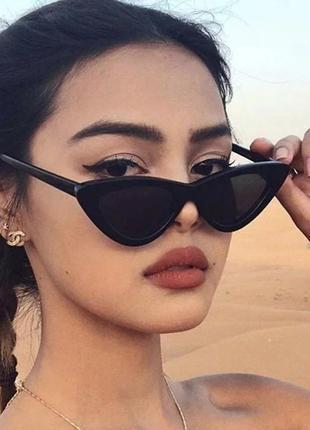 Солнцезащитные / имиджевые женские  очки кошачий глаз / лисичк...