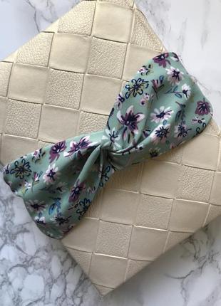 Детская повязка на голову/для волос/ободок в цветочный принт