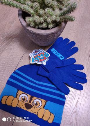 Шапка перчатки щенячий патруль