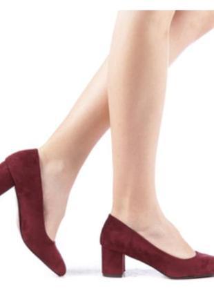 Туфли лодочки модный каблук