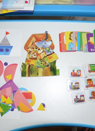 Набор развивающих игр, карточки, мозаика от 2 лет