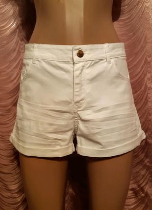 Белые джинсовые коттоновые шорты. H&M. 46 размер.