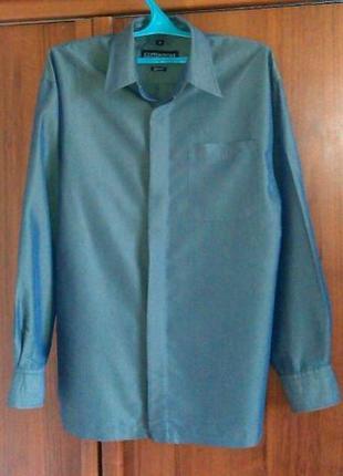 Рубашка мужская COPPERSTONE (Материал - MODAL) Зеленая перламутр