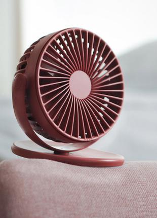Вентилятор с аккумулятором (блок питания) вращение на 360 акция