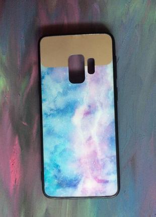 Чехол мраморный с зеркалом для Samsung s9