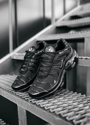Nike air max tn plus full black, кроссовки найк