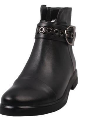 Ботинки демисезонные с пряжкой erisses натуральная кожа, осень...