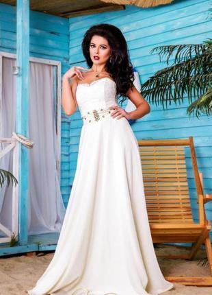 Нежное свадебное вечерее выпускное платье