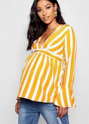 Легкая блузка для беременных полоска