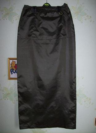 Длинная юбка в спортивном стиле