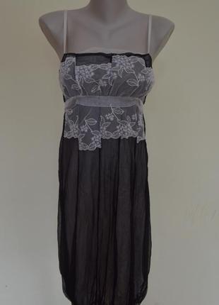 Шикарное итальянское платье из шелка на бретельках
