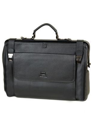 Дорожная кожаная сумка-саквояж, черный чемодан