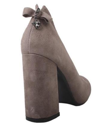 Туфли lady marcia? ,бант натуральная замша, осень 2019