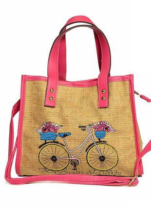Женская сумка пляжная с косметичкой