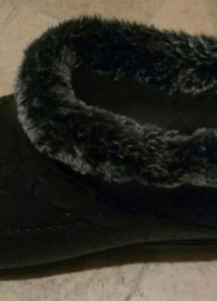 Резиновые сапоги черного цвета с мехом внутри
