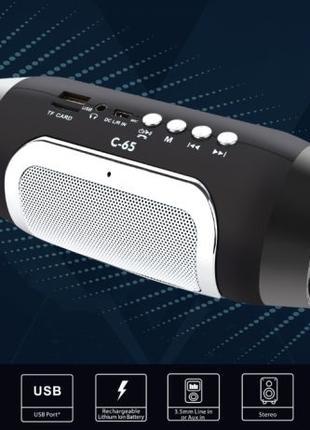 Bluetooth колонка с FM радио мощная 6вт.