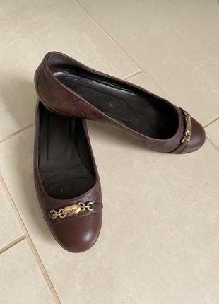 Балетки кожаные туфельки стильные оригинал gucci размер 38