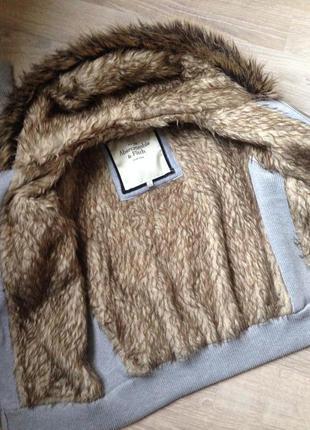 Утеплённая кофта с мехом abercrombie