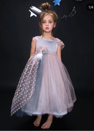 Пышное платье с гороховыми элементами